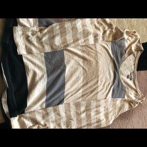 J Jill  Stripes Light Knit Top Size S